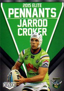 2015 NRL Elite Pennants #EP6 Jarrod Croker Raiders