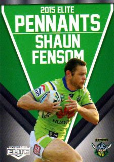 2015 NRL Elite Pennants #EP7 Shaun Fensom Raiders