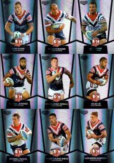 2015 NRL Elite 9-Card Silver Parallel Team Set Sydney Roosters
