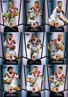 2015 NRL Elite 9-Card Silver Parallel Team Set St.George Illawarra Dragons