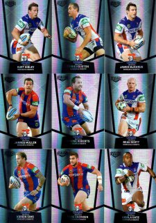 2015 NRL Elite 9-Card Silver Parallel Team Set Newcastle Knights