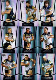 2015 NRL Elite 9-Card Silver Parallel Team Set North Queensland Cowboys