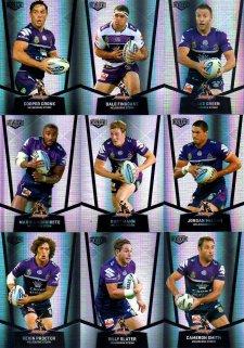 2015 NRL Elite 9-Card Silver Parallel Team Set Melbourne Storm