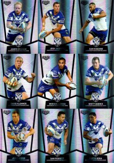2015 NRL Elite 9-Card Silver Parallel Team Set Canterbury Bulldogs