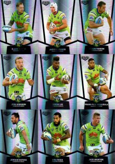 2015 NRL Elite 9-Card Silver Parallel Team Set Canberra Raiders