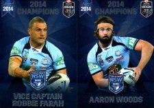 2014 State of Origin Series Champions 2-Card Team Set Tigers