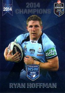 2014 State of Origin Series Champions Ryan Hoffman Storm