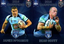 2014 State of Origin Series Champions 2-Card Team Set Knights