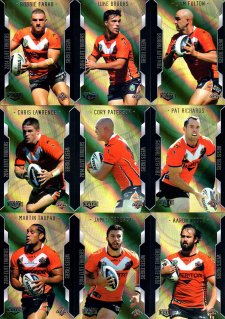 2014 NRL Elite 9-Card Gold Parallel Team Set Wests Tigers