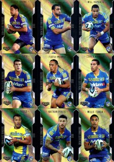 2014 NRL Elite 9-Card Gold Parallel Team Set Parramatta Eels