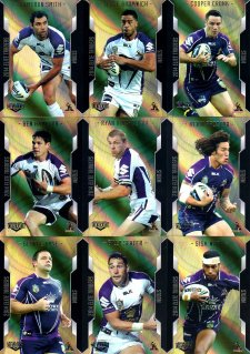 2014 NRL Elite 9-Card Gold Parallel Team Set Melbourne Storm