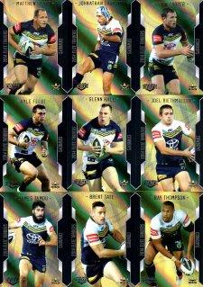 2014 NRL Elite 9-Card Gold Parallel Team Set North Queensland Cowboys