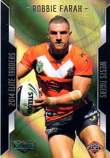 2014 NRL Elite Gold Parallel #SP136 Robbie Farah Tigers