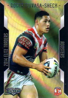 2014 NRL Elite Gold Parallel #SP124 Roger Tuivasa-Sheck Roosters