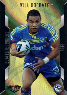2014 NRL Elite Gold Parallel #SP75 Will Hopoate Eels