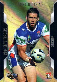 2014 NRL Elite Gold Parallel #SP64 Kurt Gidley Knights