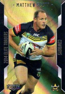 2014 NRL Elite Gold Parallel #SP28 Matthew Scott Cowboys