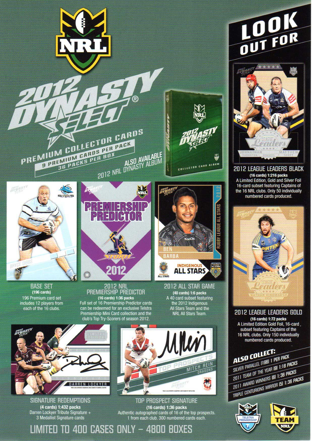 2012 NRL Dynasty Flyer