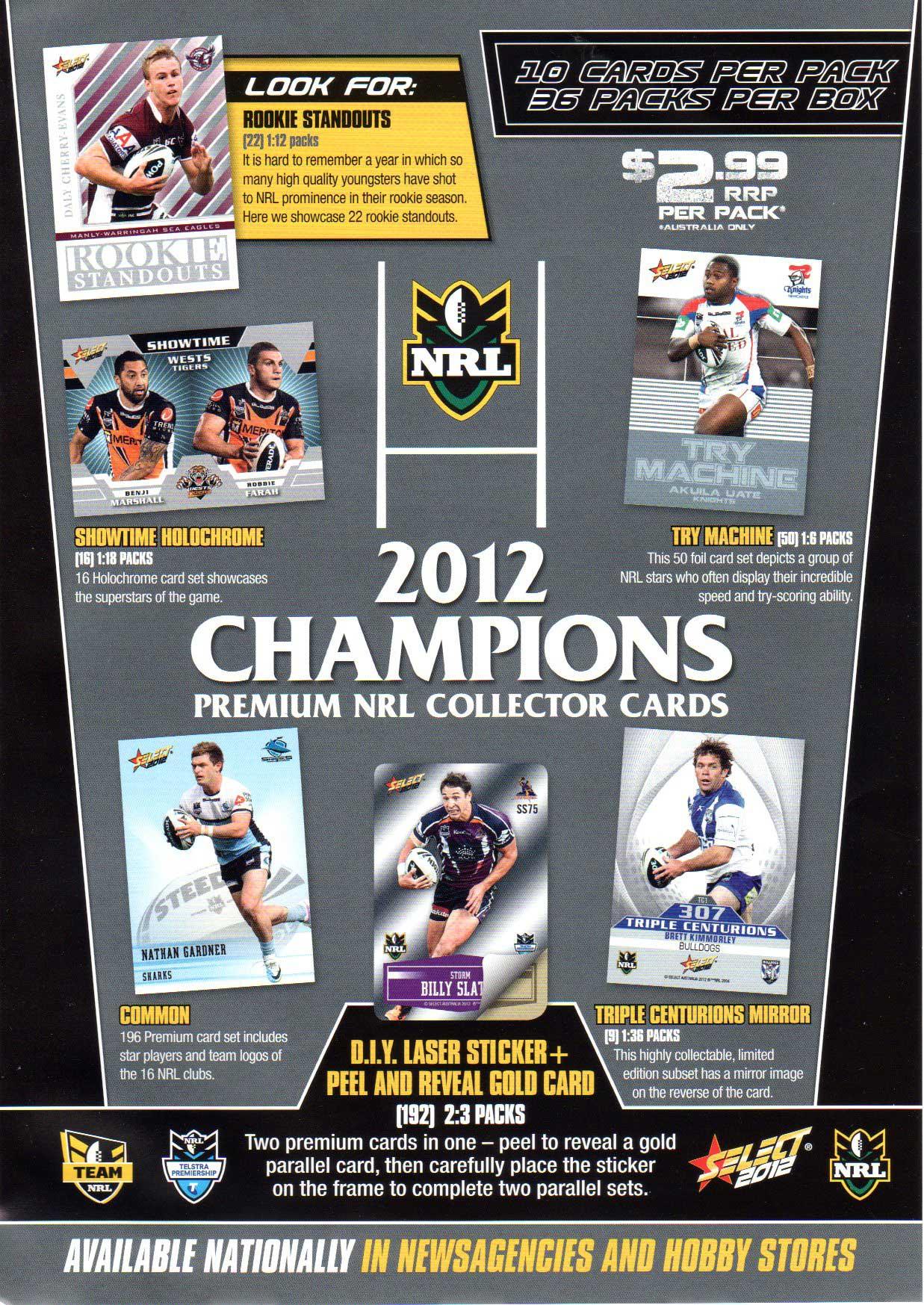 2012 NRL Champions Flyer