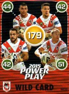 2015 NRL Power Play Wild Card #WC13 Dragons