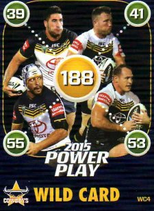2015 NRL Power Play Wild Card #WC4 Cowboys