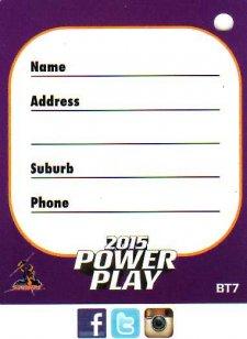2015 NRL Power Play Bag Tag #BT7 Storm