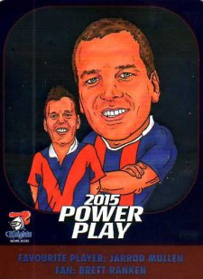 2015 NRL Power Play Fan Card #FC8 Jarrod Mullen Knights
