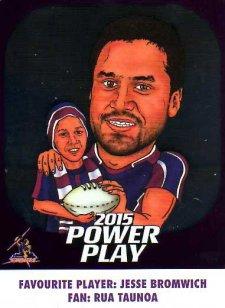2015 NRL Power Play Fan Card #FC7 Jesse Bromwich Storm