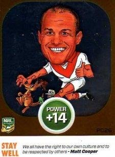 2015 NRL Power Play Power Card #PC26 Matt Cooper Dragons