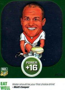 2015 NRL Power Play Power Card #PC15 Matt Cooper Dragons