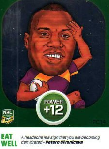 2015 NRL Power Play Power Card #PC14 Petero Civoniceva Broncos