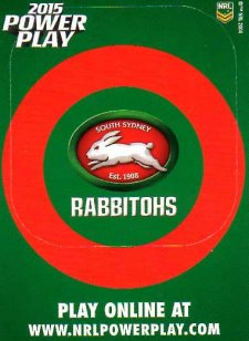 2015 NRL Power Play Photo Frame #12 Rabbitohs