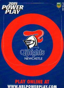 2015 NRL Power Play Photo Frame #8 Knights