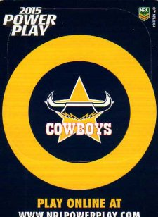 2015 NRL Power Play Photo Frame #4 Cowboys