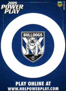 2015 NRL Power Play Photo Frame #2 Bulldogs