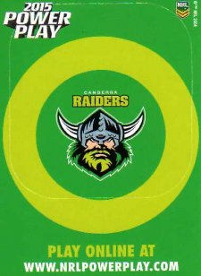 2015 NRL Power Play Photo Frame #3 Raiders