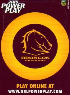 2015 NRL Power Play Photo Frame #1 Broncos