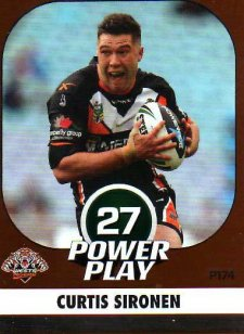 2015 NRL Power Play Parallel #174 Curtis Sironen Tigers