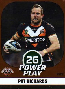 2015 NRL Power Play Parallel #172 Pat Richards Tigers