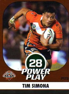 2015 NRL Power Play Parallel #173 Tim Simona Tigers