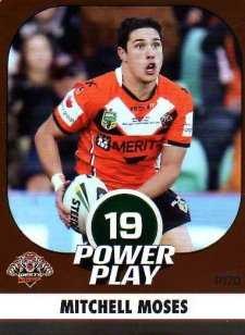 2015 NRL Power Play Parallel #170 Mitchell Moses Tigers