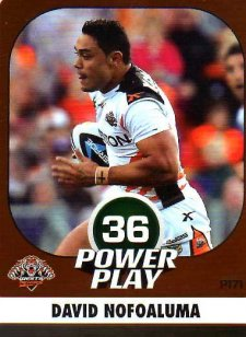 2015 NRL Power Play Parallel #171 David Nofoaluma Tigers