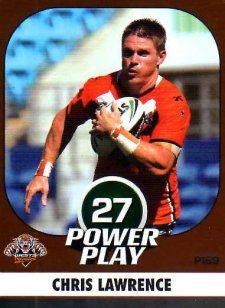 2015 NRL Power Play Parallel #169 Chris Lawrence Tigers