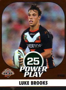 2015 NRL Power Play Parallel #166 Luke Brooks Tigers