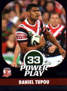 2015 NRL Power Play Parallel #153 Daniel Tupou Roosters