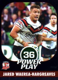 2015 NRL Power Play Parallel #154 Jared Waerea-Hargreaves Roosters