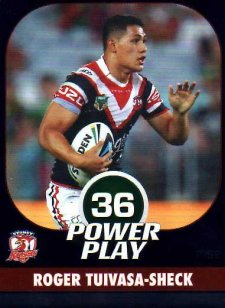 2015 NRL Power Play Parallel #152 Roger Tuivasa-Sheck Roosters