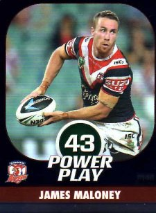 2015 NRL Power Play Parallel #148 James Maloney Roosters