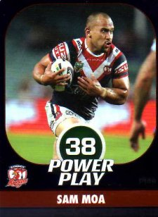 2015 NRL Power Play Parallel #149 Sam Moa Roosters
