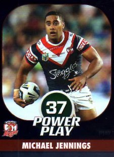 2015 NRL Power Play Parallel #147 Michael Jennings Roosters